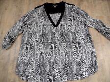 H&m + arrondie légère tunique noir blanc a motifs taille 54 Top 1017
