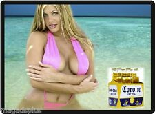 Corona Sexy Beer Babe In Pink Bikini Refrigerator Tool Box Magnet Fridge