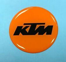 KTM sticker/decal 40mm Black on Orange - HIGH GLOSS DOMED GEL FINISH