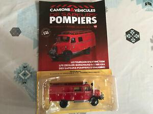 Miniature Camion LF8 Ziegler-Borgward 4x4 Pompiers Ismaning Hachette au 1/43