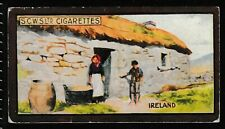 """Scottish CWS Cigarette Cards """"Dwellings of all Nations"""" 1924 """"Ireland"""" #3"""