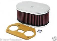 K&N Filtro Aria Personalizzato Kit Per Singolo & Doppio Barile Carbs 56-1691
