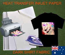 12 sheets A4 Iron Heat Transfer Paper For The Dark Shirt