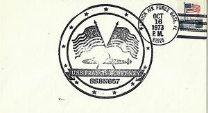 USS FRANCIS SCOTT KEY SSB (N) 657 SUBMARINE NAVAL COVER 16 OCTOBER 1973