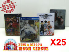 25x SONY PS4 CIB GAME BLU-RAY STEELBOOK G2 - CLEAR PROTECTIVE BOX PROTECTOR CASE