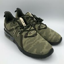 Nike Air Max Sequent 3 Premium Running Shoes AR0251 201 Men's Size 9 Camo Green