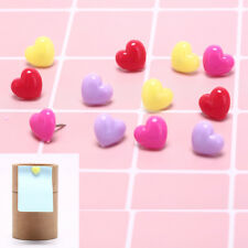 12pcsbox Multi Color Heart Push Pins Notice Board Map Drawing Office Cagf