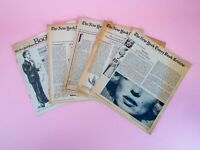 Lot of 5 - 1970s The New York Times Book Reviews