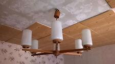 Deckenlampe 50  / 60 er Jahre Holz  Lampe  Art Decko  6 Flammig