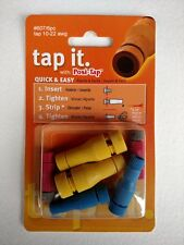 ZRTL-607-6 Lockitt Posi-Tap 607/6 Yellow,blue,red wire tap for 10-22 ga. 6 pack
