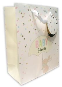 Baby Shower Gift Bag Medium Unisex Rabbit Cute Boy Girl Mum To Be Luxury