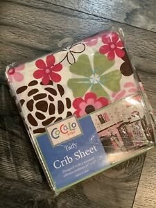 CoCaLo Baby Taffy Fitted Crib Sheet 100% Cotton Floral girls new