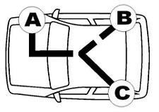QH BC3350 Brake Cable Rear RH.