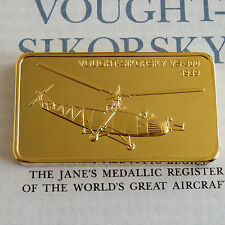 Vought SIKORSKY VS-300 Oro Placcato prova LINGOTTO-Jane 's medallic registro
