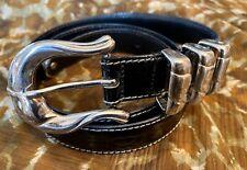 Escada Leather Vintage 80's Belt Size 40 462/2901 Alligator Embossed