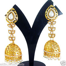 Indian Fashion Jewelry New Gold Bridal Bollywood Jumka Earrings Set Z 7