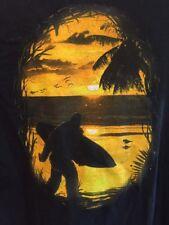VINTAGE SASQUATCH BIGFOOT SURFING T SHIRT MEDIUM  SURFBOARD SURF SURFER