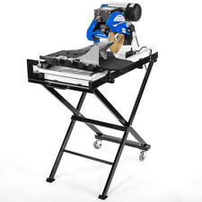 "Industrial 2.5hp Motor 27"" Wet Tile Saw Cut Laser Guide Tray with Folding Stands"
