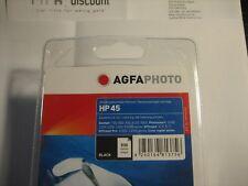 Agfa Photo HP 45 51645AE .dj-710c Deskjet 990 tinta bk 42ml Negro Producto NUEVO