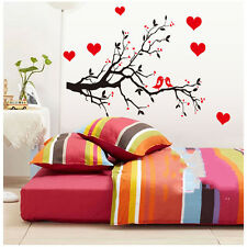 Love Heart Tree Bird Wall Stickers Removable Vinyl Decal Art Mural Home DecorDIY