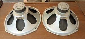 """Vintage pair 12"""" Alnico Speakers """"49CZ873"""" by Zenith,  6 or 8 Ohm, Nice Shape."""