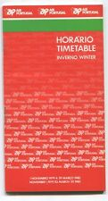 TAP AIR PORTUGAL TIMETABLE WINTER 1979-80 HORARIO TP