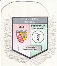 PETIT FANION 10*9 CM RC.LENS Vs GDYSKOBOLIA RODZISK POLAND UEFA CUP 2005-2006