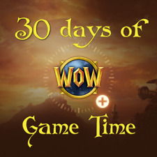 30 day Game Time World of Warcraft Wow Us/Na Servers Prepaid card 1 month