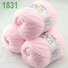 Sale 3ballsx50g DK Baby Cashmere Silk Wool hand knitting Yarn 1831 Baby pink