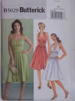 Dress Halter Top Sewing Pattern B5029 Butterick Size 8 10 12 14 UC FF Summer