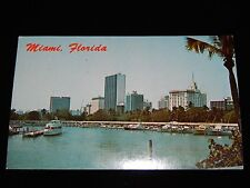 Vintage Postcard,MIAMI, FLORIDA, FL, New Marina & Skyline Of City, To CA, 1972