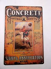 CONCRETE BOOTS RUGBY FOOTBALL  METAL TIN SIGNS vintage pub bar garage chic