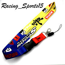 JDM SPOON SPORTS Lanyard Keychain Neck Strap Quick Release 2 Sided Print EK EG