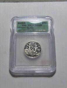 2001 S (Vermont) Washington Quarter (Silver) Proof - ICG PF70 Cond - 56RP-2
