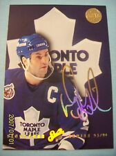 1993-94 Doug Gilmour # 1 of 10 Leaf / Donruss Studio Signature Series Gold Auto!