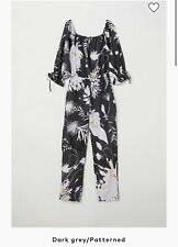 Anna Glover For H&M Linen One Jump Suit Pattern Flower S  Worn Once!