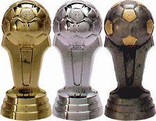 3er-Serie Fußball-Pokale auf schwarzem Marmorsockel mit Ihrer Wunschgravur