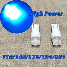 PARKING LIGHT T10 LED BLUE GLASS LENS bulb w5w 168 194 3SMD for Toyota L S
