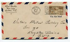 1940 PANAMA Canal Zone POSTAL HISTORY ,BALBOA to JAMAICA rare cover