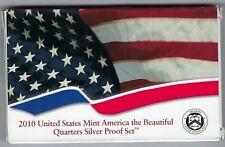 USA: America the Beautiful Quarters Silver Proof Set 2010