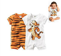 Boy Baby Newborn Top Short Sleeve Outfit Tigger Romper Bodysuit Clothes 0-18M