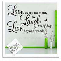 Removable Quote Word DIY Vinyl Decal Art Mural Home Room Decor Wall Stickers
