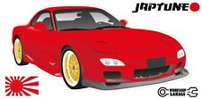 Mazda RX-7 Series 6  - Red with Gold Rims - JDM Twin Turbo  - JapTune Brand