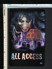 ALICE COOPER 2011 'Original Evil Returns' All Access Backstage Pass Card