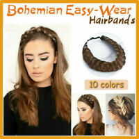 Bohemian Easy-Wear Hairbands Elastic Twist Braided Hair Headband Wig Fishtail