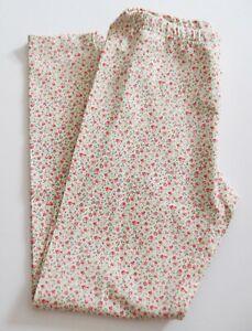 Polo Ralph Lauren Big Girls Floral Print Jersey Leggings Cream/Red Sz XL - NWT