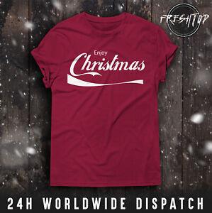 Enjoy Christmas T Shirt Coca Cola Pepsi Merry Christmas Family Friends Gift