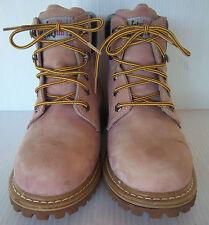 Women's Safety Girl Tan Steel Toe Waterproof Work Boots -- Size 9M