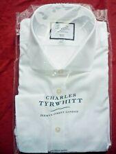"Charles Tyrwhitt 17"" BNWT Non Iron Slim Fit Shirt Long Sleeve 34"" Double Cuff"