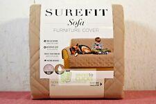 Sure Fit- Non-Slip/Waterproof Sofa Furniture Cover, Tan